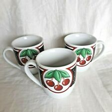 Lot of 3 Enesco At Home With Mary Engelbreit Cherry Cherries Cameo Mugs