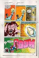 1983 Captain America Annual 7 page 21 Marvel Comics original color guide artwork