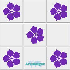 FLOWER Tile Stickers Kitchen Bathroom Flowers Vinyl Wall Art Car Decal AD25
