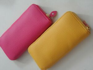 two x purse wallet pink yellow plastic