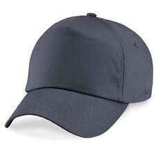Beechfield Baseball Cap One Size Adjustable MultiColour 100% Cotton Plain Blank
