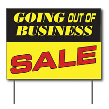 """Going Out Of Business Sale Curbside Sign, 24""""w x 18""""h, Full Color Double Sided"""