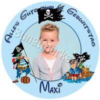 Tortenaufleger Pirat Fototorte Zuckerbild mit Foto und Text individuell (608)