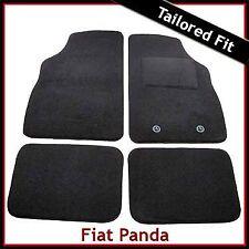 FIAT PANDA Mk2 2003-2012 SU MISURA TAPPETINI AUTO MOQUETTE NERA