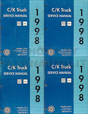 1998 Chevy CK Truck Shop Manual Set Cheyenne Silverado Pickup Suburban Tahoe OEM