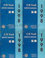 1998 Chevy CK Truck Shop Manual Set Cheyenne Silverado Pickup Suburban Tahoe OEM