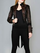 Women's Tailcoat Gothic Vintage Costume Jacket with Swallow Tails