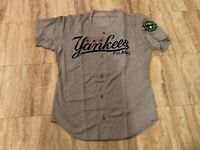 #58 Team Issued Pulaski Yankees Gray Road Jersey New York Yankees