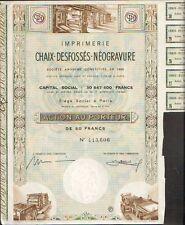 DECO => Imprimerie CHAIX-DESFOSSES-NEOGRAVURE (M)
