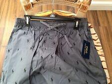 BNWT Ralph Lauren Da Uomo Grigio/Nero Polo Cavallo Pigiama Lounge Pants Taglia Media