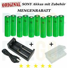 Sony Konion VTC6 Batterie VTC5A, VTC5, VTC4 Akku + Ladegerät *SPARSET*