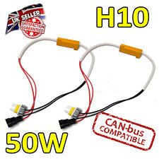 2 X H10 50w LED Luces Antiniebla cancelers 6ohm LED de Error-Error Canbus Libre segura