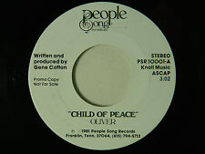 Oliver dj 45 CHILD OF PEACE / same song ~ People Song M-