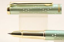 HERO No. 3166A Tartan Pearl Olive Green Extra Fine Fountain Pen with Gold Trim
