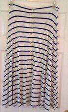 New ASOS Navy/Off White Nautical Striped Skirt UK 12