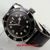 41mm corgeut black dial Sapphire Glass miyota 8215 automatic diving mens watch