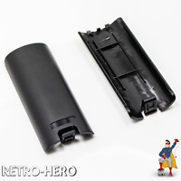 Wii Batterie fach Deckel Fach Abdeckung Akku Klappe Remote Controller Schwarz