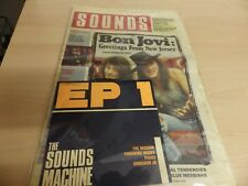 THE SOUND MACHINE EP #1 WITH MUSIC PAPER DATED SEPT 1988 BON JOVI