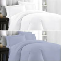 200 Thread Count Duvet Cover Bedding Set Hotel Quality 100% Pure Cotton All Size