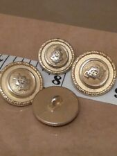 4 x REPLACEMENT SPARE BUTTONS SHOW HUNTING HORSE RIDING JACKET