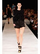 Ellery Gold Studded Black Denim Frayed hem shorts size 10 RARE Vintage Piece