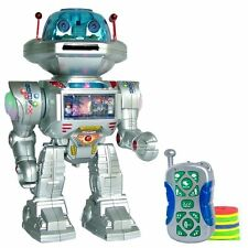 RC Remote Controlled Toy Robot Shoots Dances Talks Walking I Robot  Sounds Light