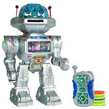 Remoto Controllato Rc Giocattolo Robot spara DANZE COLLOQUI a passeggio i robot SUONI LUCE