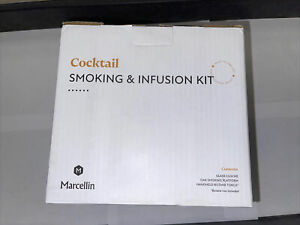 Marcellin Cocktail Smoking And Infusion Kit With Platform Glass Cloche And Torch