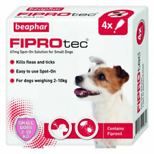 Beaphar Fiprotec Flea Tick Removal Prevent Spot On Small Dog 2kg-10kg 4 Pack