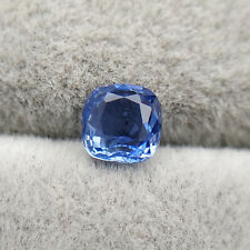 1.02 Ct | EGL Certified | Natural Unheated Blue Sapphire | Cushion | VVS