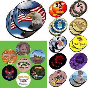 "1PC Round CUSTOM PRINTED Neoprene Fabric 4"" Diameter Coasters"