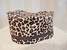 Pill Box Hat Animal Print Lined Homemade Black Trim Cotton