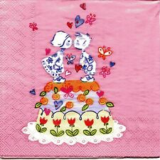 2 pcs Single Paper Napkins For Decoupage Craft Holiday Cake