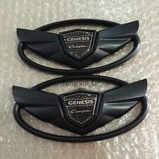 2pcs Hyundai Genesis Coupe WING Logo Emblems Hood Trunk Stickers Front emblem