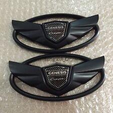 2pcs Hyundai Genesis Coupe WING Logo Emblems Hood Trunk Stickers Front emblem