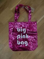 Big Pink Bag NWT Shopper Bag Fold Up Carrier Metallic Pink