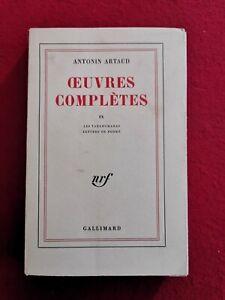 19. ANTONIN ARTAUD - OEUVRES COMPLETES IX - LES TARAHUMARAS - 1971