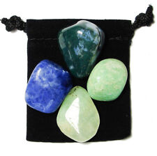 OVERCOMING FEAR Tumbled Crystal Healing Set  = 4 Stones + Pouch + Description