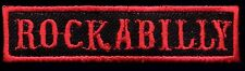 Rockabilly patch badge Hot Rod Motorcycle Jacket Vest Novelty Tattoo black red
