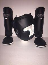 Warrior Martial Arts Academy Ravgear Protective Helmet & Shin Gard