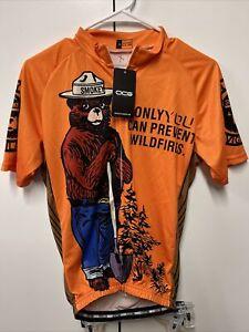 OCG Smokey The Bear Cycling Bicycling Jersey S/S Full Zipper NWT Men's Size M