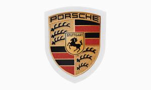 Original Porsche Emblem Wappen Logo Klebeschild Aufkleber Sticker 6,5 x 5cm
