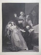 Orginal c1850 Antiquarian Engraving - The Imposture of The Holy Maid of Kent