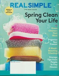 REAL SIMPLE Magazine April 2020 Issue New Unread Spring Cleaning Storage Tips