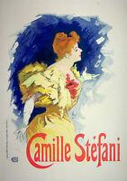 Jules Cheret: Camille Stephani - Litografía Original, Firmada 1897