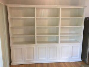 """Murray"" Integrated Wall Unit Bookshelf Storage Cabinet"