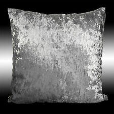 SHINY SMOOTH PLAIN SILVER THICKSOFT VELVET THROW PILLOW CASE CUSHION COVER 17""