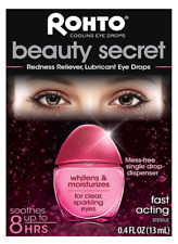 Rohto Beauty Secret Redness Reliever Lubricant Cooling Eye Drops .4 oz. EXP 2021