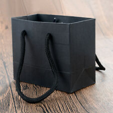 5pcs Paper Handles Bag Party Weddings Baby Showers Christmas Gift Shopping Black