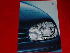 "VW Golf IV Limousine + Variant ""Sport Edition"" Sondermodell Prospekt von 2000"